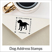 Address stamp dog \u00abIRISH TERRIER 02\u00bb with personal address and motif-stamp name wooden stamp Ireland hunting hunter hunting dog dog