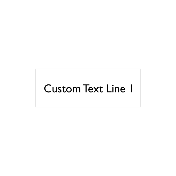 1 line custom text stamp