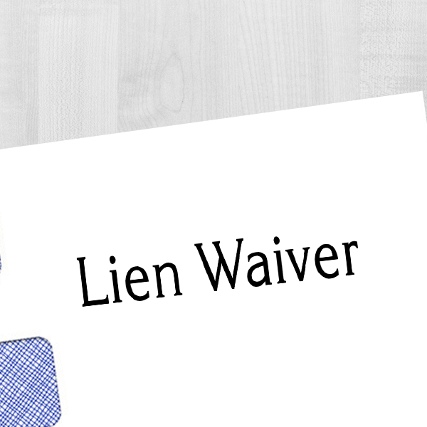 Lien Waiver Rubber Stock Stamp