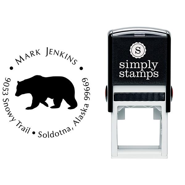 Big Bear Return Address Stamp Body and Design