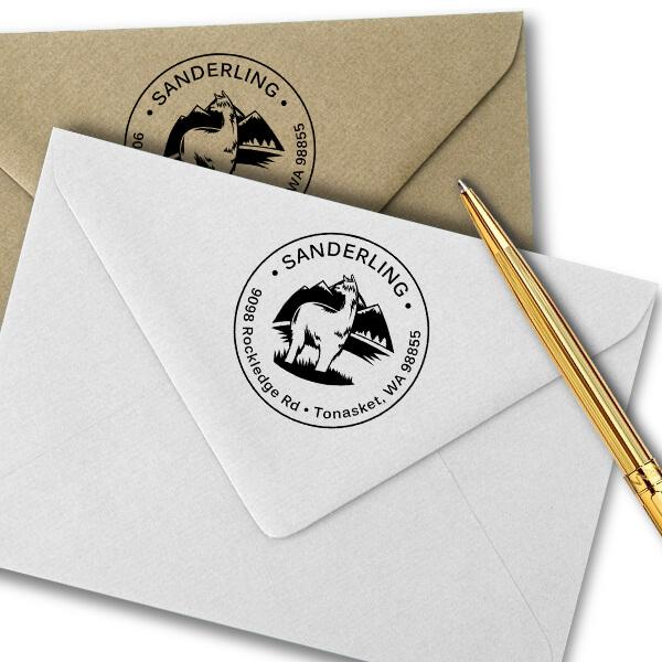 Alpaca Return Address Stamp Imprint Example