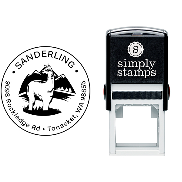 Alpaca Return Address Stamp Body and Design