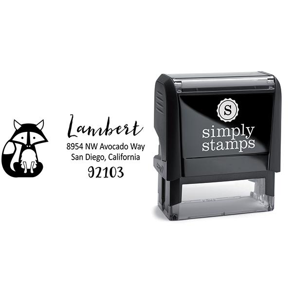 Fox Return Address Stamp Body and Design
