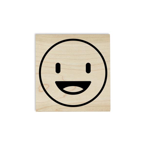 Happy Emoji Teacher Craft Stamp Imprint Example