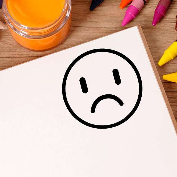 Crying Emoji Teacher Craft Stamp Imprint Example