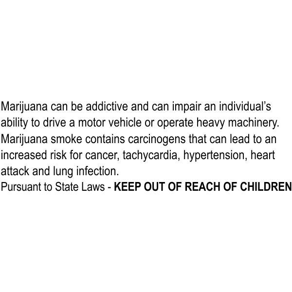 Marijuana Medical Warning Rubber Stamp