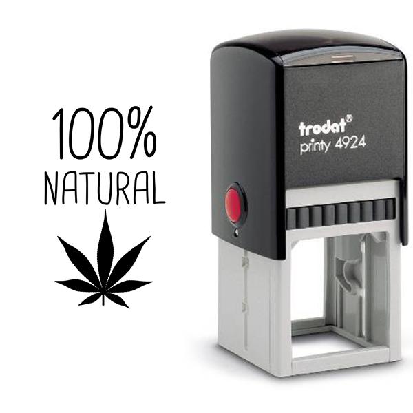 100% Natural Marijuana Rubber Stamp Body and Design