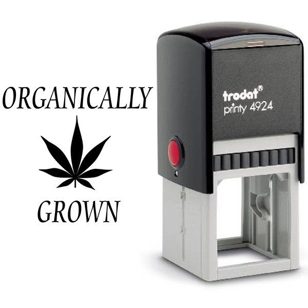 Organically Grown Marijuana Rubber Stamp Body and Design