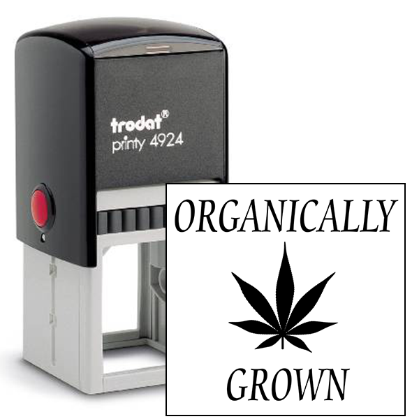 Organically Grown Marijuana Rubber Stamp
