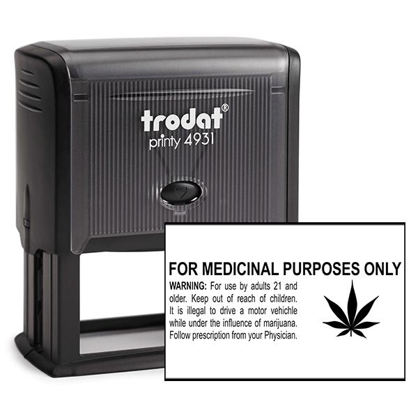 For Medicinal Purposes Marijuana Rubber Stamp
