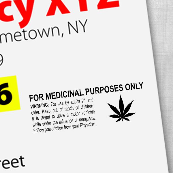 For Medicinal Purposes Marijuana Rubber Stamp Imprint Example