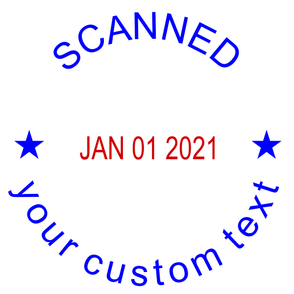 Custom Scanned Round Dater Stamp