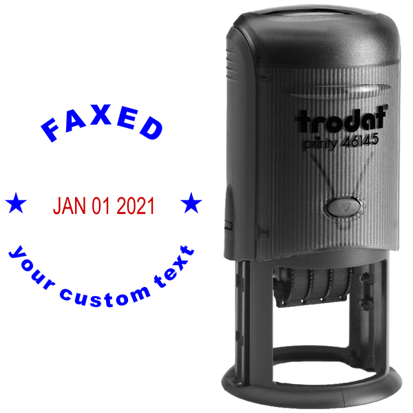 Custom Faxed Round Dater Stamp Body and Design