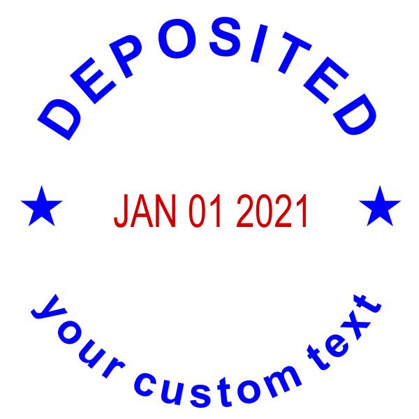 Custom Deposited Round Dater Stamp