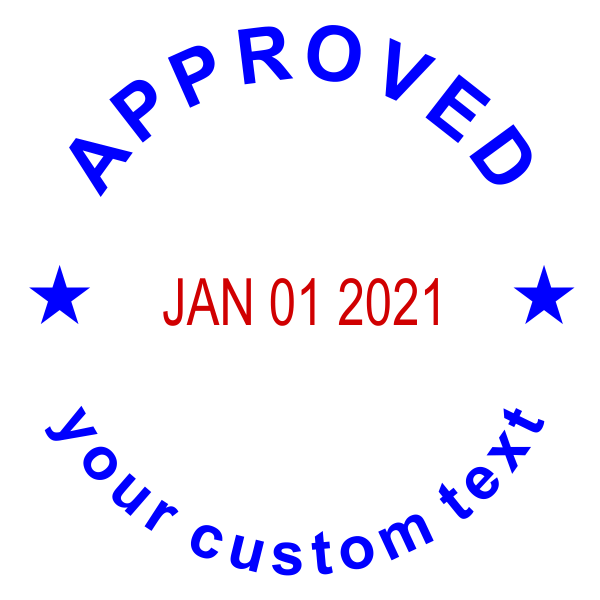 CustomApproved Round Dater Stamp