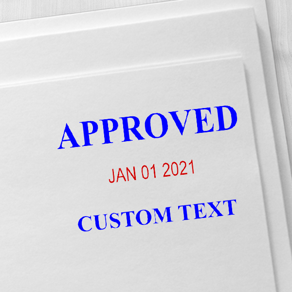 Approved Custom One Line Dater Stamp Imprint Example