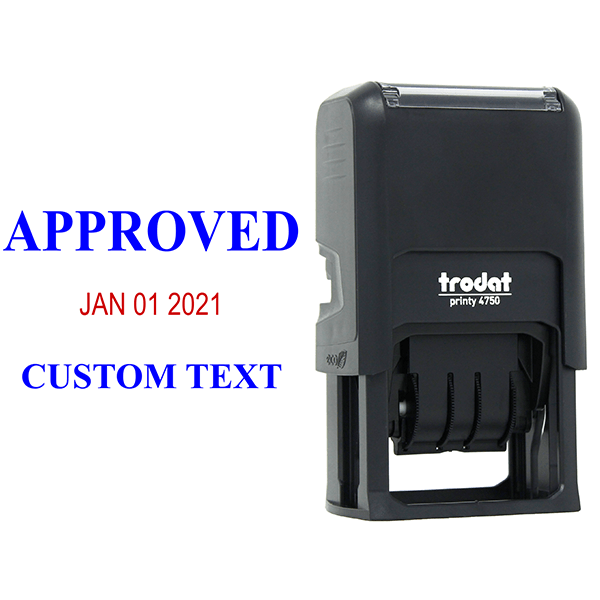 Approved Custom One Line Dater Stamp Body and Design