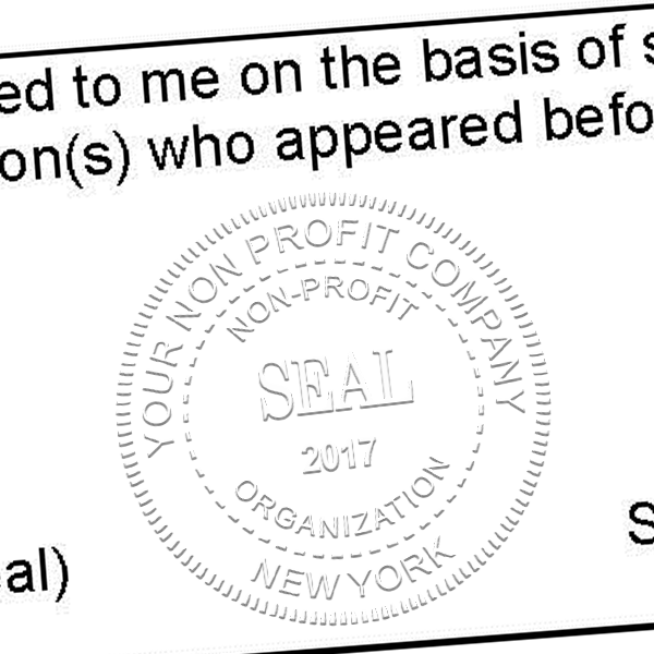 Non-Profit Organization with Date Seal Embosser Imprint Example