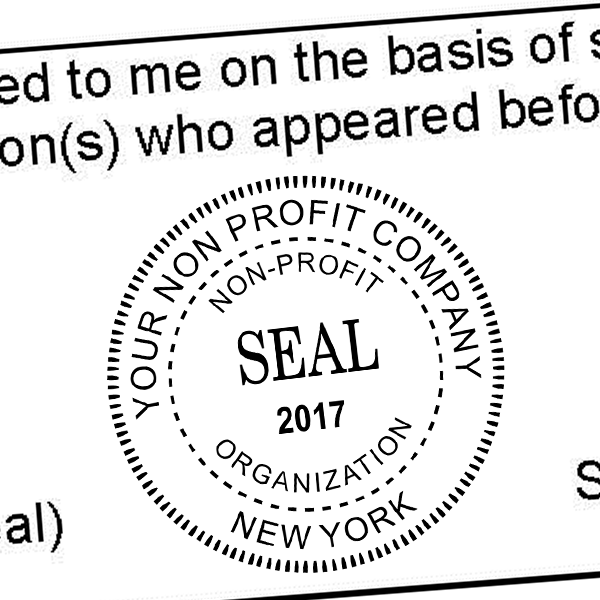 Non-Profit Organization with Date Seal Stamp Imprint Example
