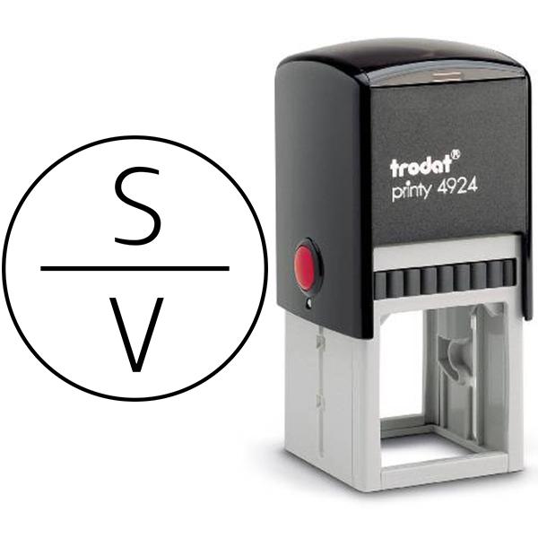 Slimline Vertical Monogram Stamp Body and Design