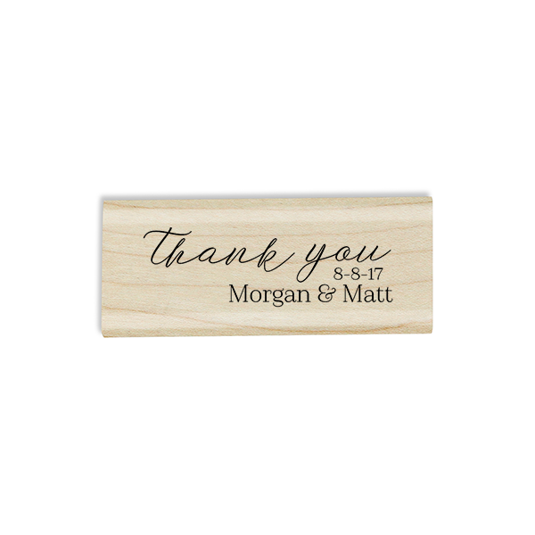 Thank You Custom Wedding Craft Stamp Body and Design