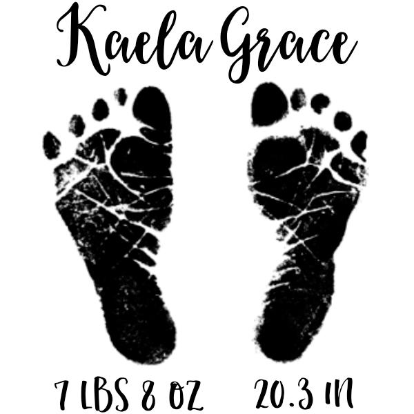 Custom Baby Footprints Craft Stamp