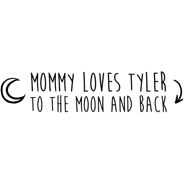Custom Baby To The Moon & Back Craft Stamp