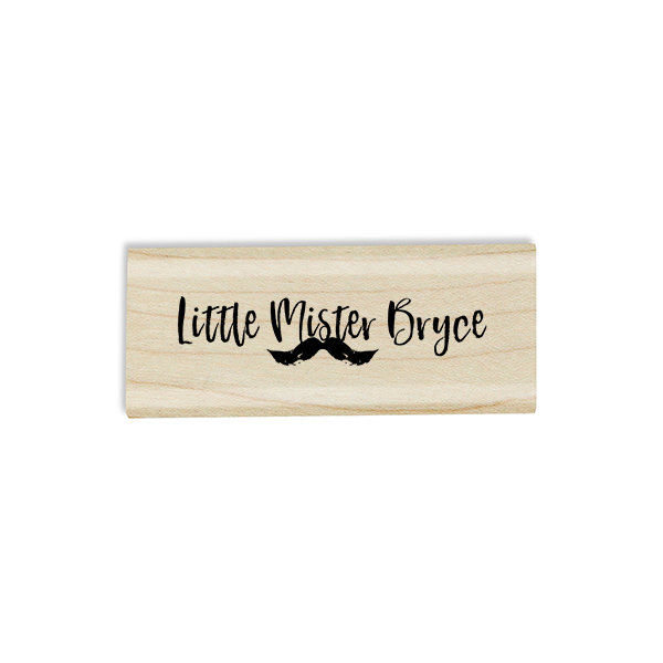 "Custom ""Little Mister"" Mustache Craft Stamp Body and Design"