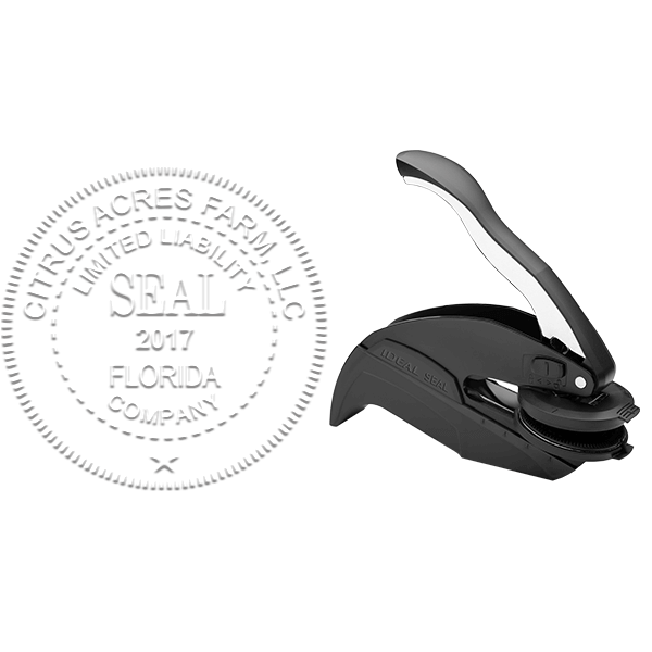Limited Liability Company with Date Seal Embosser Body and Design