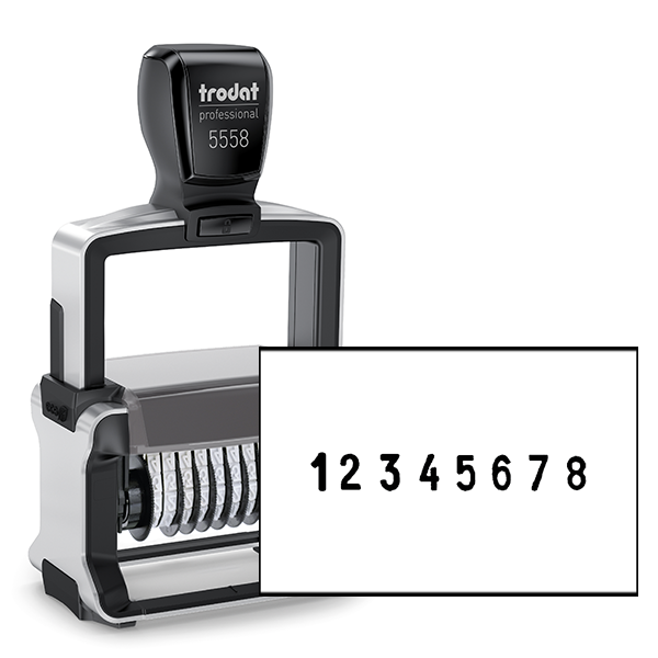 Trodat Professional 5558 | 8 Digit Numberer Stamp