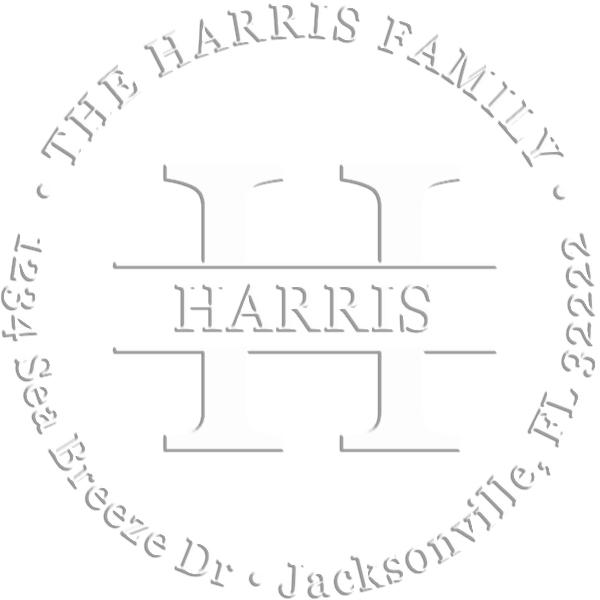 Harrison Address Luxury Embossed Impression