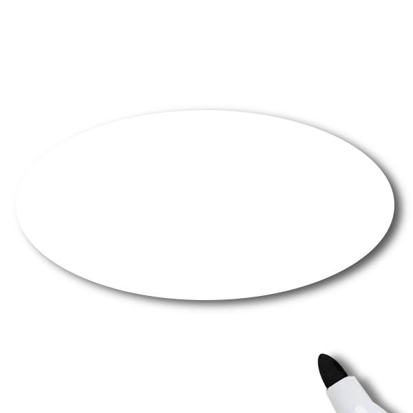 Reusable Chalkboard White Oval Name Tag
