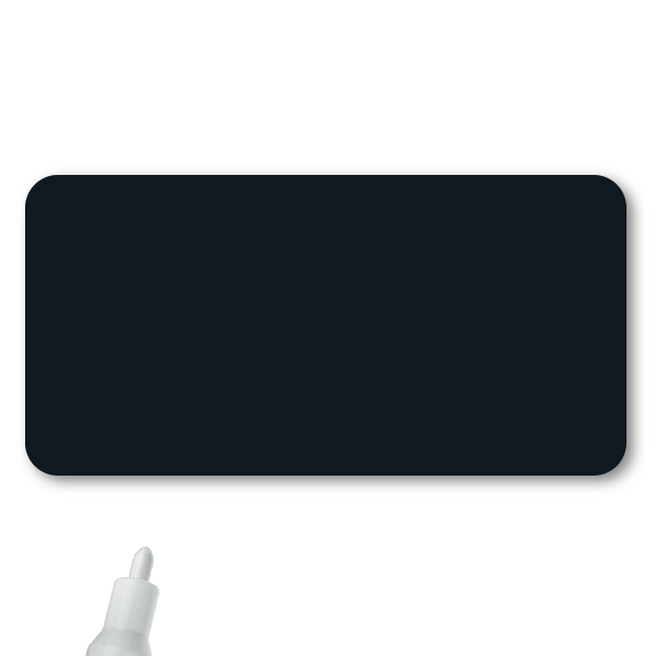 Reusable Chalkboard Black Rectangle Name Tag