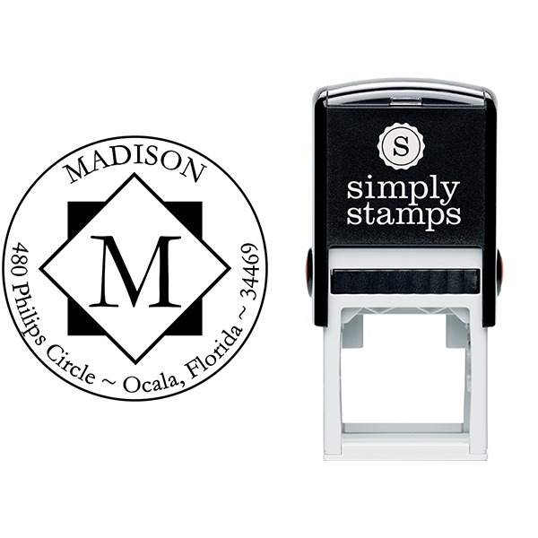 Diamond Letter Round Stamp Body and Imprint