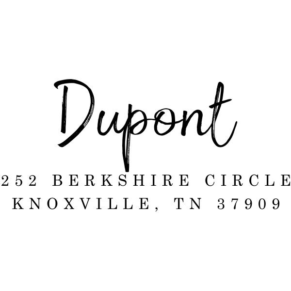 Dupont Brush Return Address Stamp