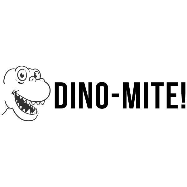 Dinosaur Dynamite Encouragement Teacher Stamp