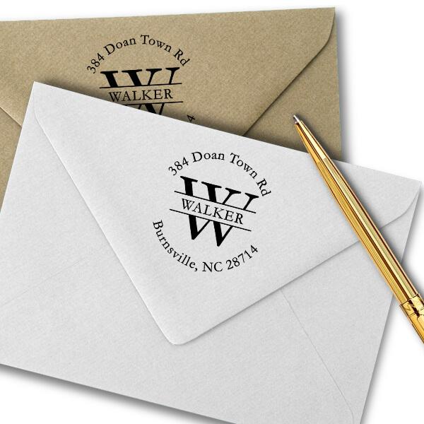 Walker Letter Return Address Stamp Imprint Example