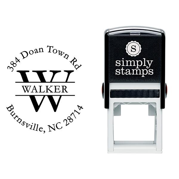 Walker Letter Return Address Stamp Body and Design
