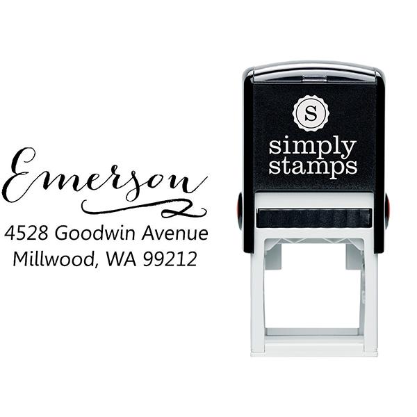 Emerson Swash Address Stamp Body and Design