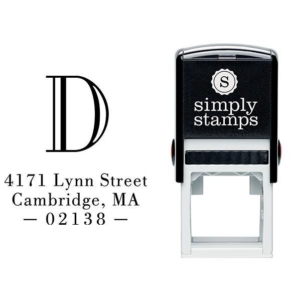 Cambridge Monogram Address Stamp Body and Design
