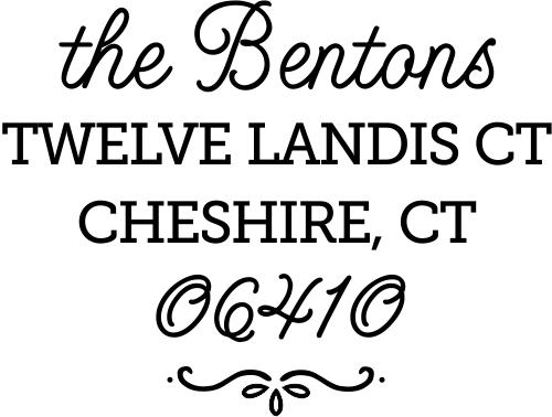 Cheshire Script Return Address Stamp