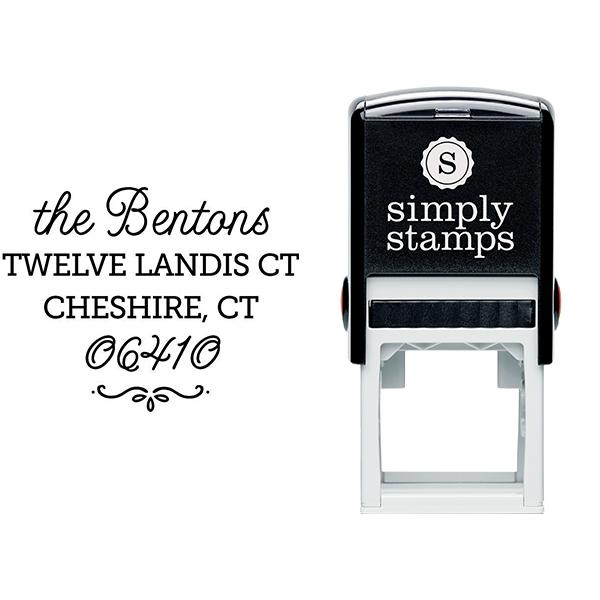 Cheshire Script Return Address Stamp Body and Design