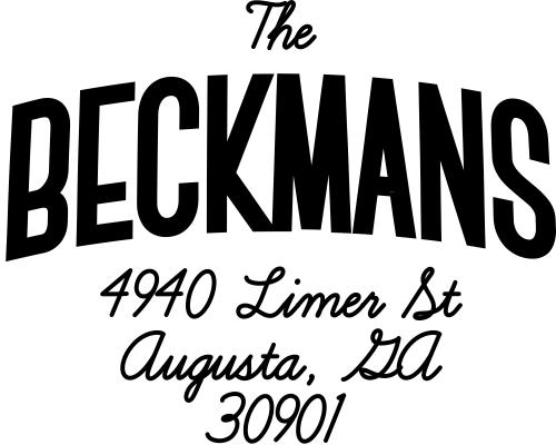 Beckman Banner Style Address Stamp