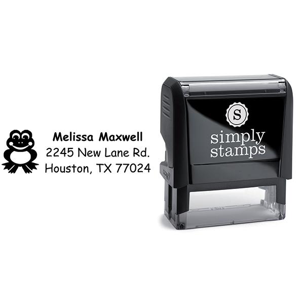 Frog Return Address Stamp Body and Imprint