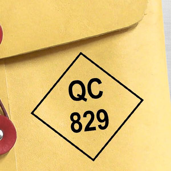 Diamond Shape QC Inspection Stamp Imprint Example