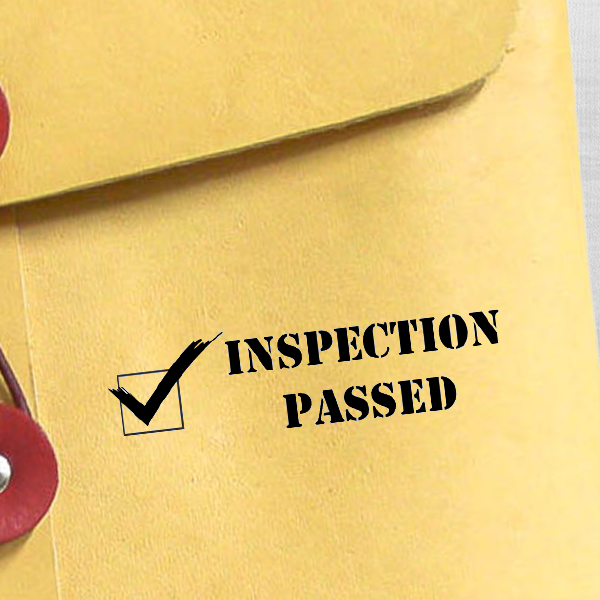 Inspection Passed Rubber Stamp Imprint Example