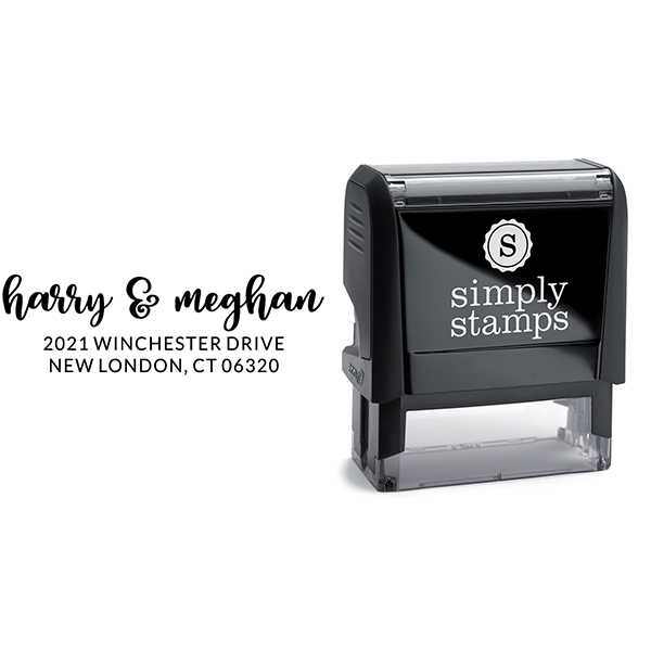 Winchester Couple Return Address Stamp Body and Design
