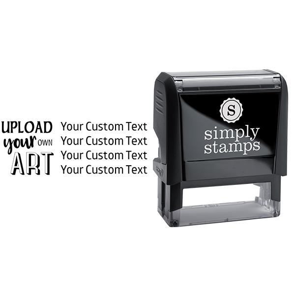 Upload Your Own Art Custom Text Rubber Stamp Body and Design