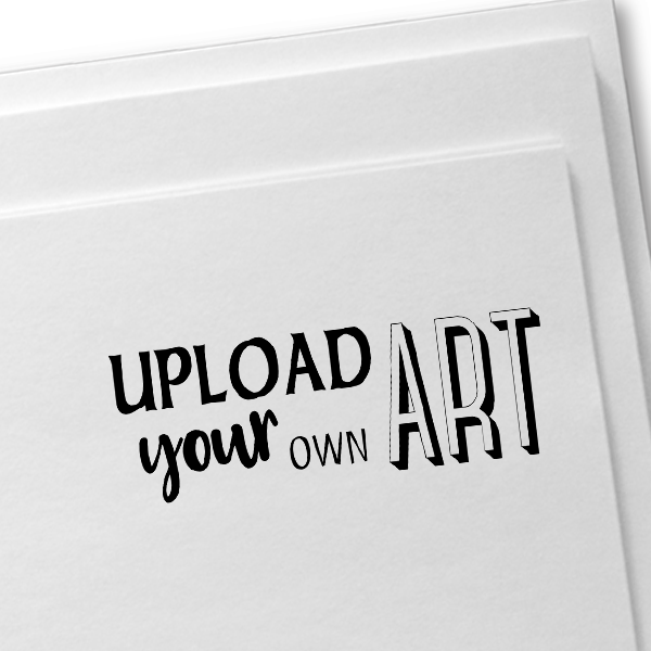 Upload Your Own Art Rectangle Rubber Stamp Imprint Example