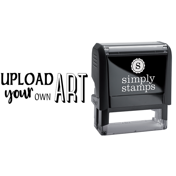 Upload Your Own Art Rectangle Rubber Stamp Body and Design